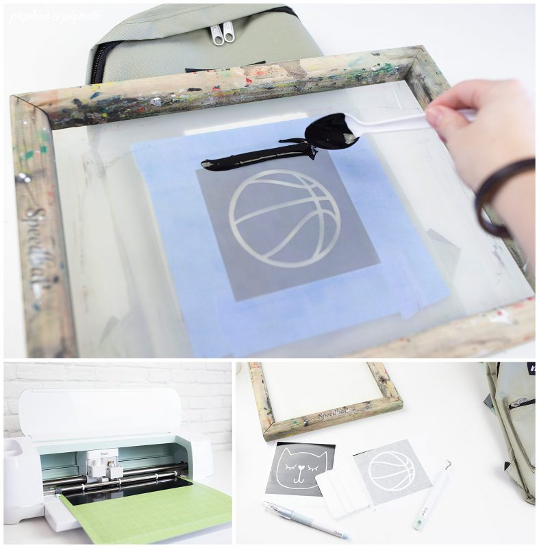 screen printing backpack personalize cricut vinyl