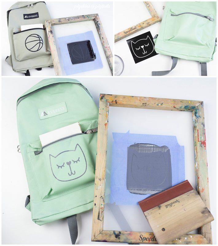 screen printing on backpacks cricut vinyl