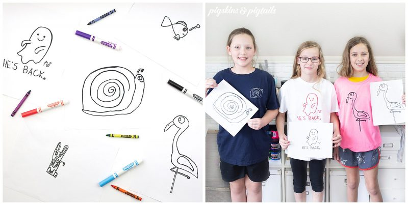turn drawings into cricut design space for shirt making