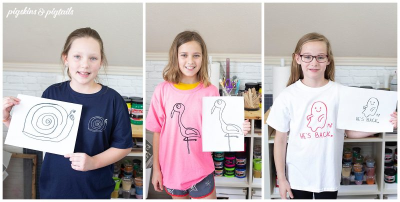 what to do with kids artwork t-shirt tutorial