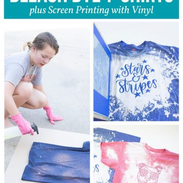 bleach dye shirt screen printing