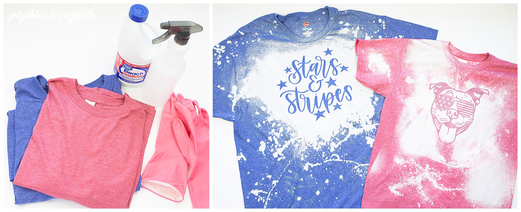 diy shirt craft with kids bleach diy project usa