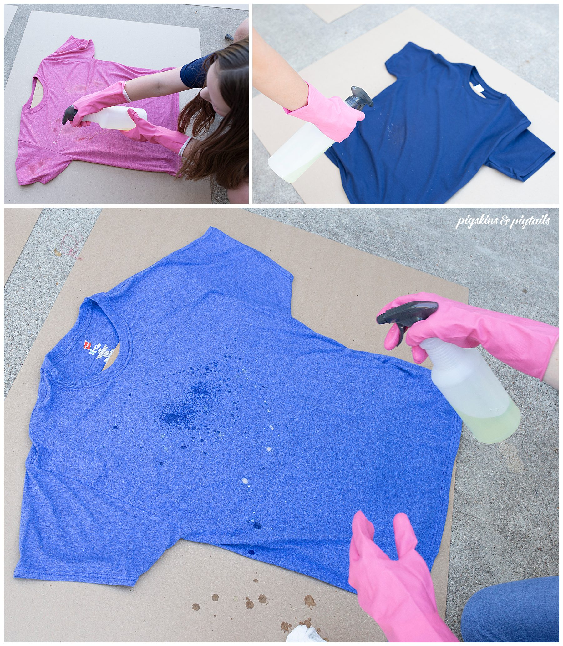 bleach tie dye shirt project