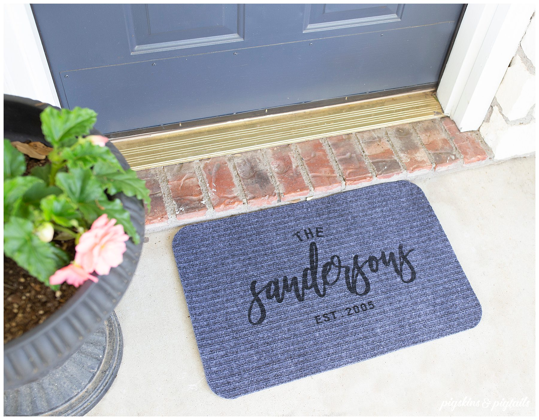 door mat customized with vinyl screen printing stencil