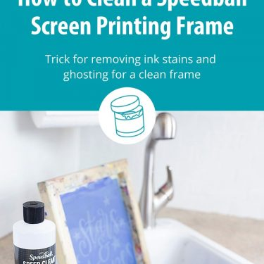 how to clean speedball screen printing frame ink stain ghosting
