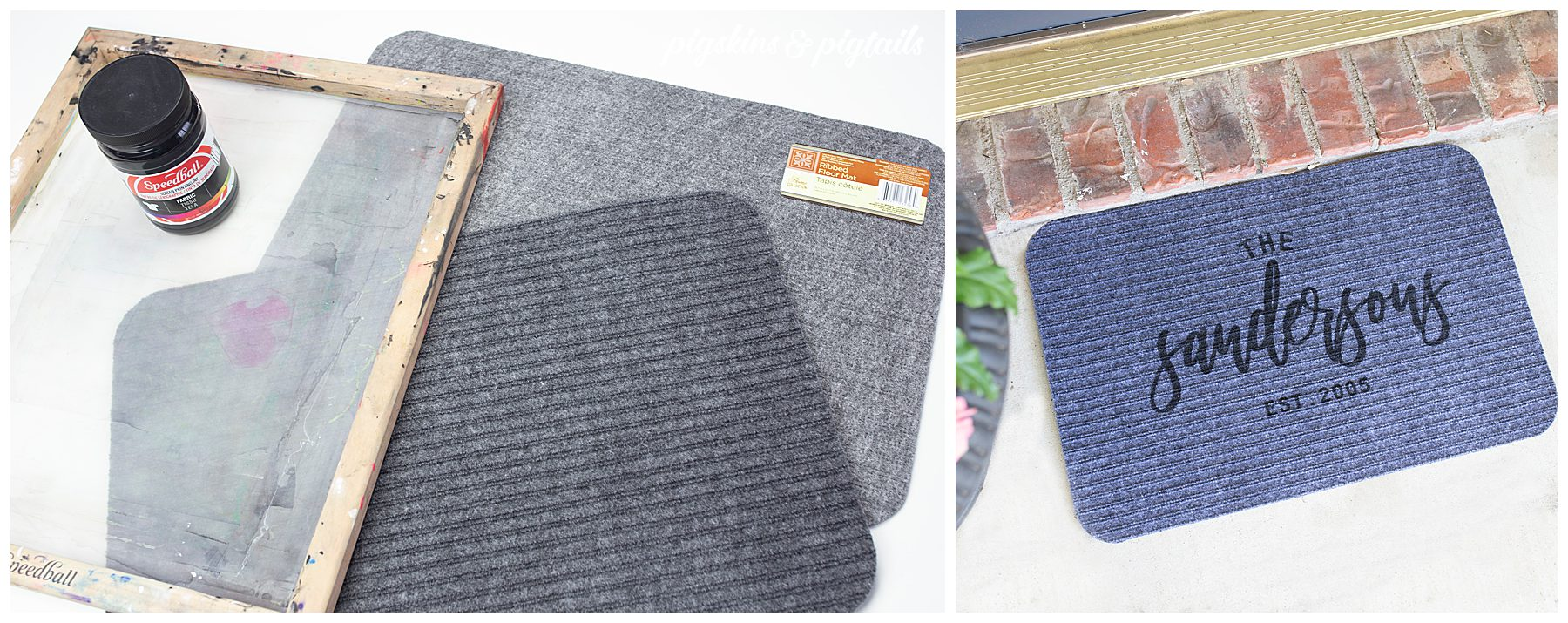 how to screen print door mat dollar tree