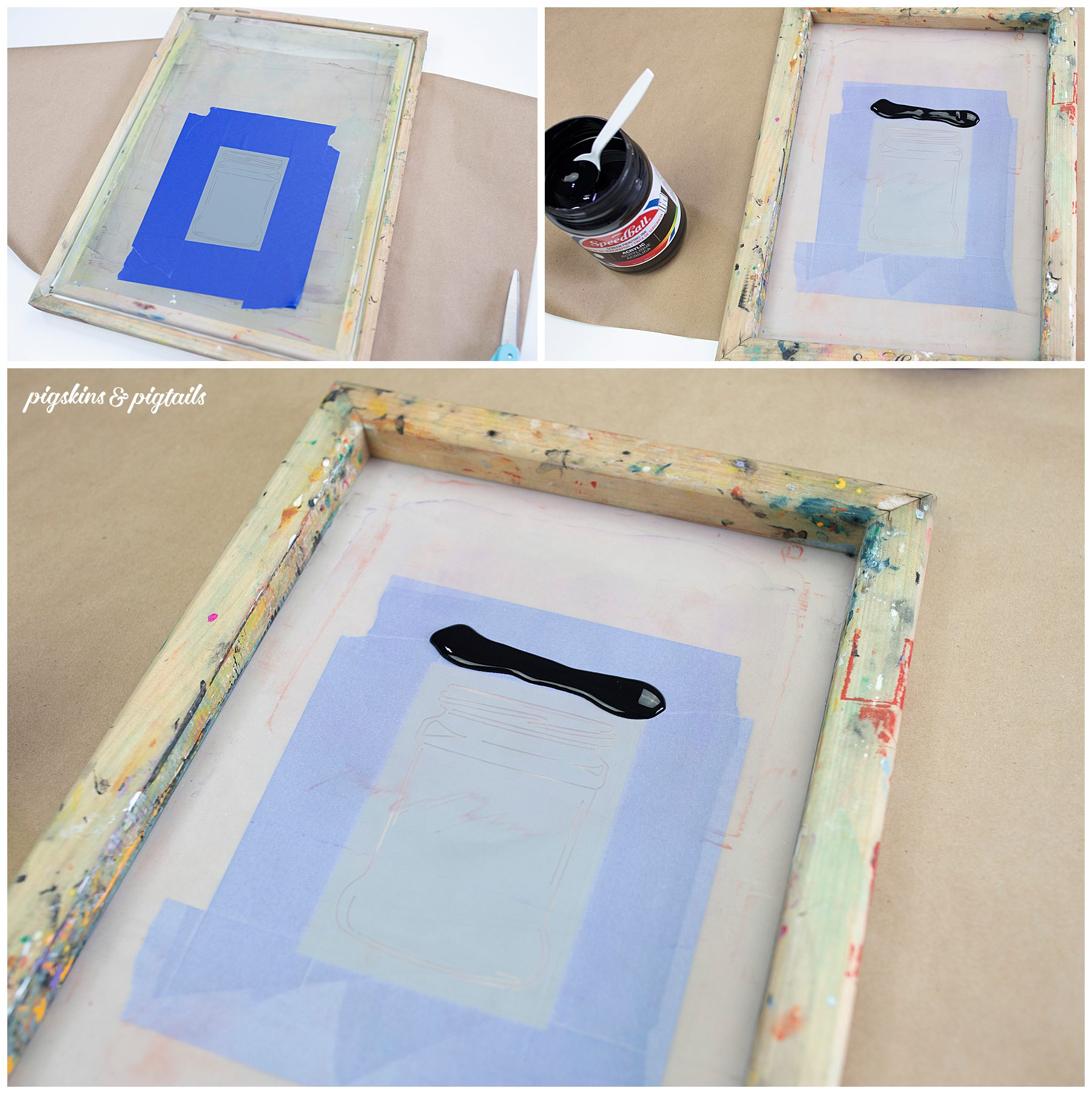 how to screen print on paper speedball acrylic ink