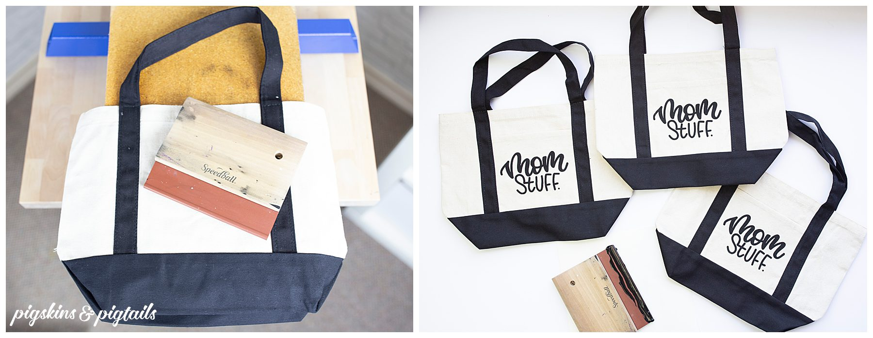 how to screen print tote bag trick
