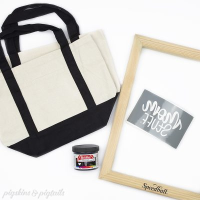 mothers day gift idea screen printing on tote bags