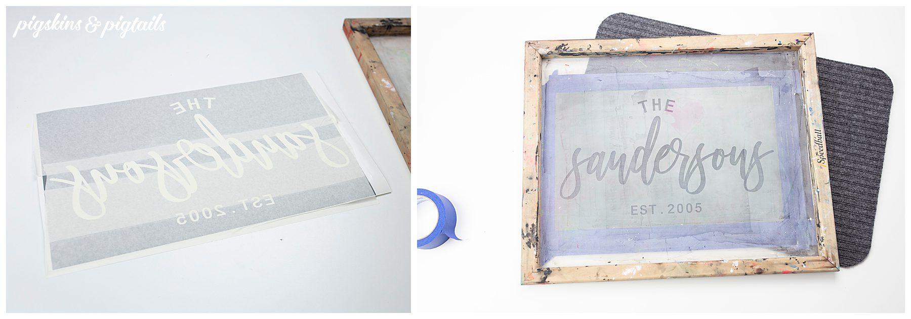 personalized doormat vinyl painting screen printing