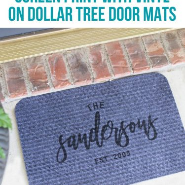 screen printing door mats tutorial how to dollar tree