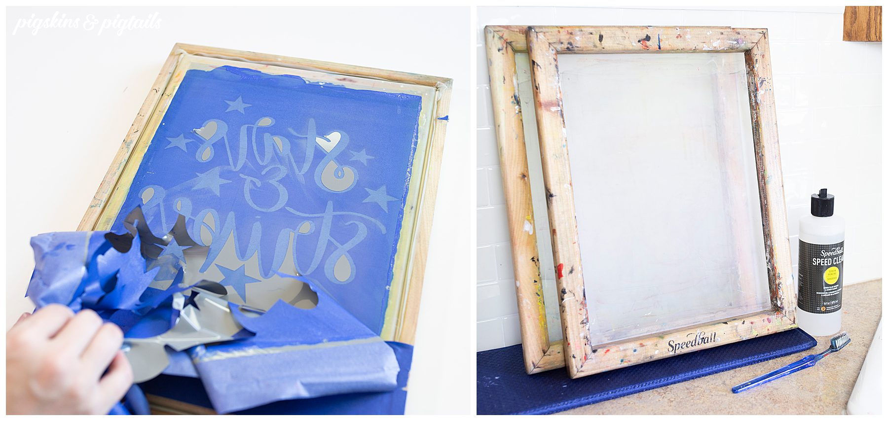 screen printing ink stain screen