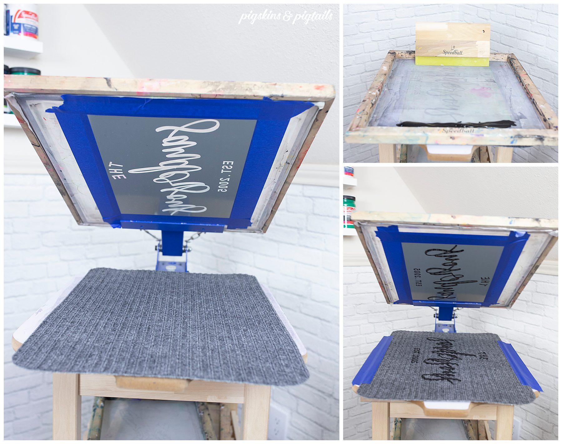 screen printing on floor mat personalized door