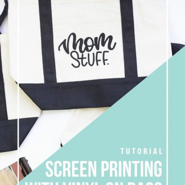 screen printing tote bags vinyl cricut how to avoid seams