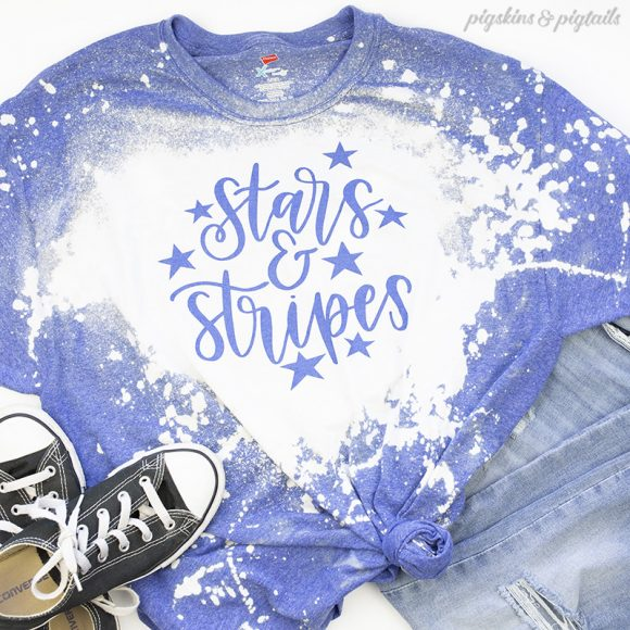 tie dye bleach shirt project tutorial ideas