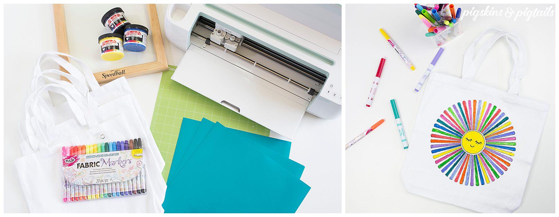 diy coloring bags fabric markers cricut michaels