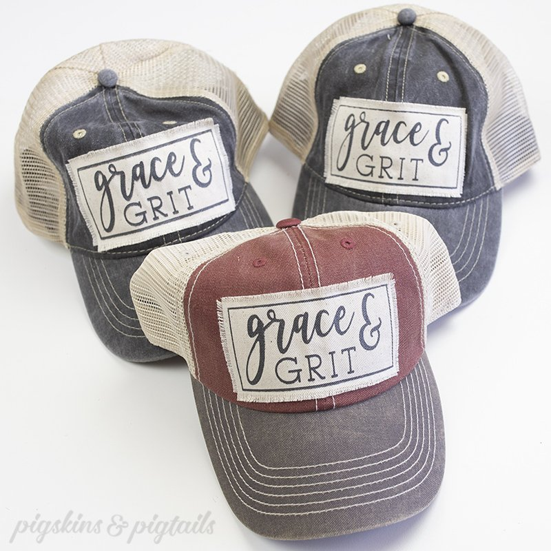 DIY Hat Patch with Vinyl Screen Printing