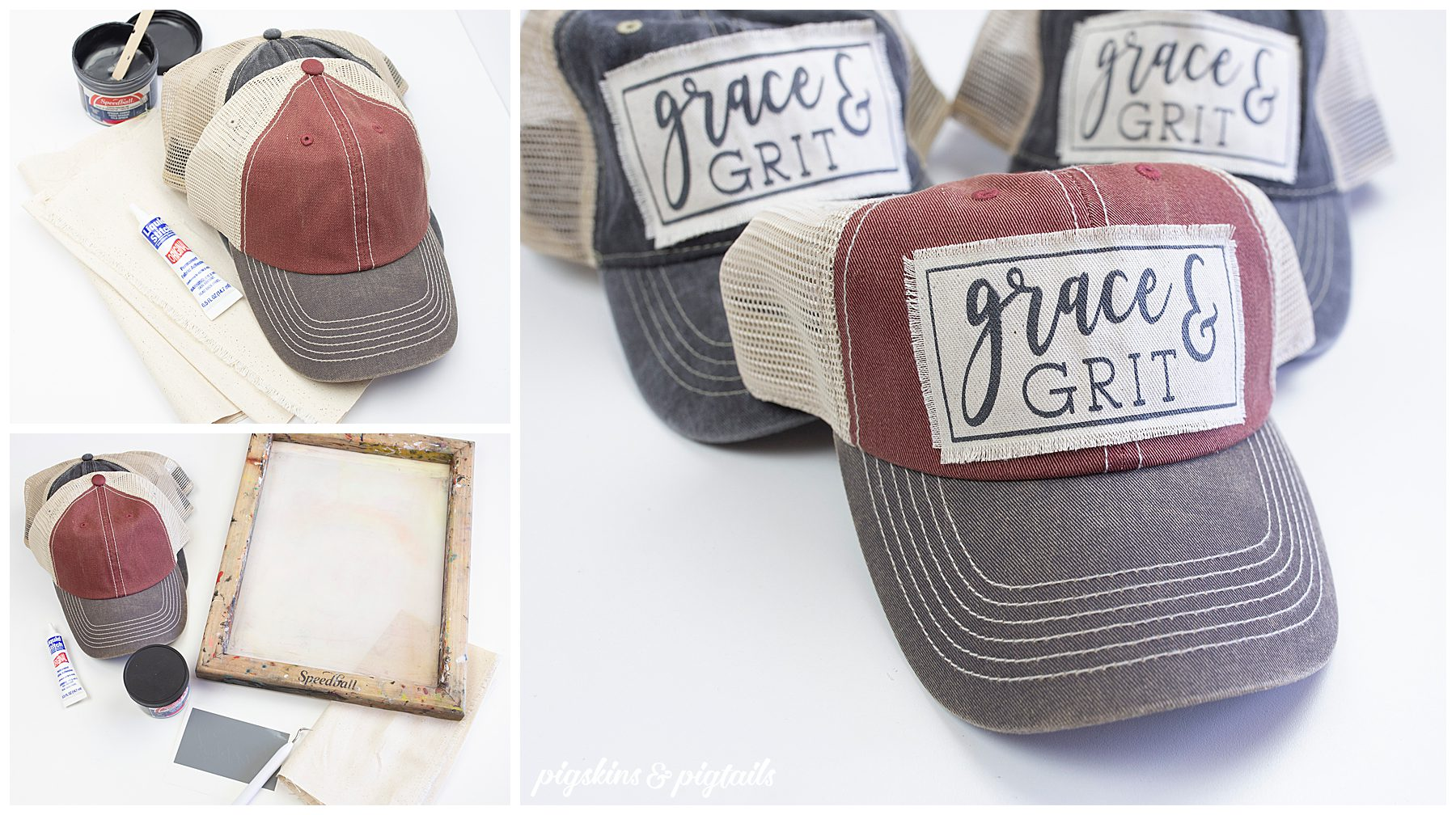 diy trucker hat patch screen printing