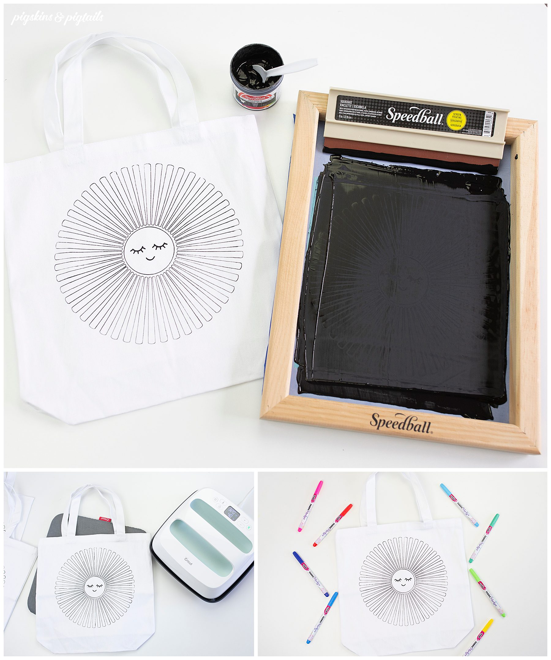 how to screen print design color fabric markers