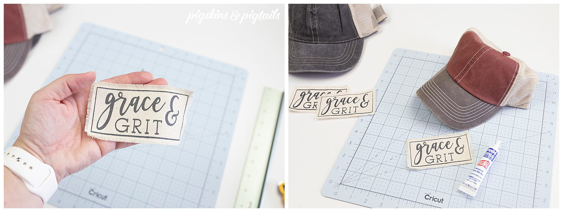 make own hat patch cricut