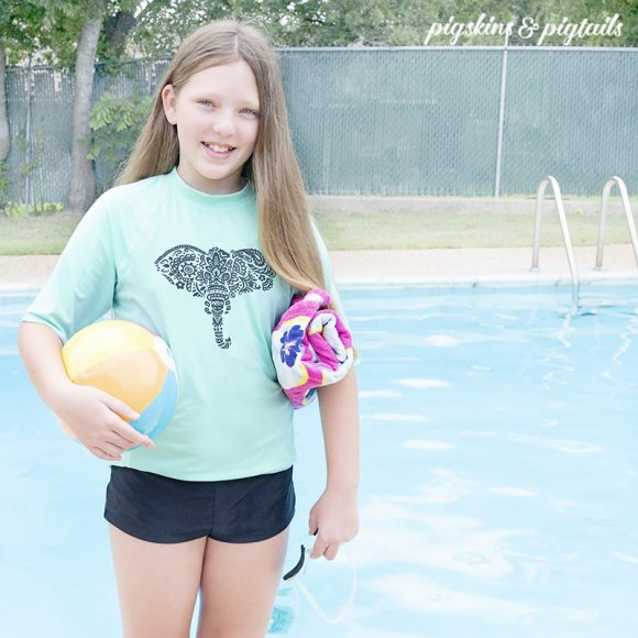 personalized pool shirt swim cricut silhouette