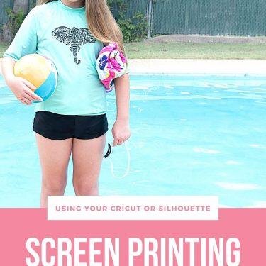 screen printing cricut silhouette swimwear swim suit