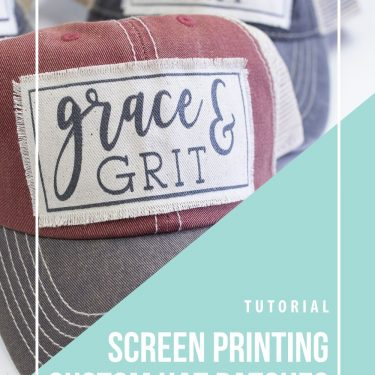 screen printing hats how to patch custom