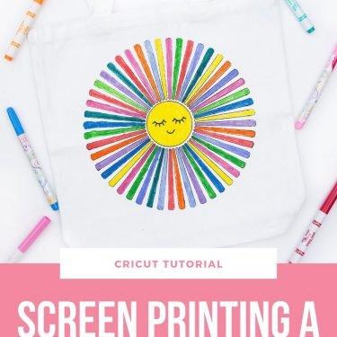 screen printing idea craft vbs camp easy cricut