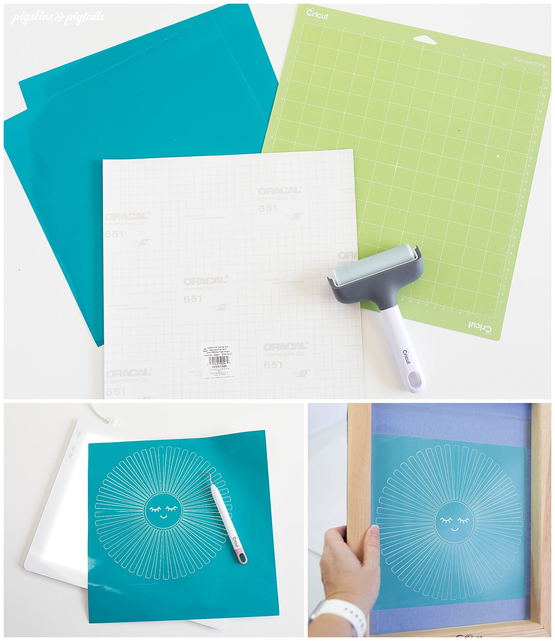 screen printing oracal 651 vinyl cricut tutorial