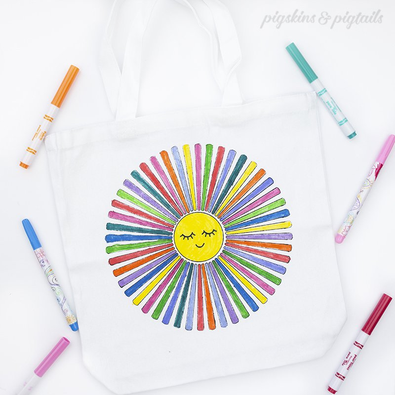DIY Coloring Tote Bags with Michaels