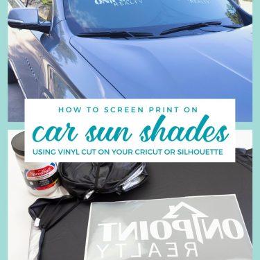 screen printing branded car sun shade visors logo diy cricut