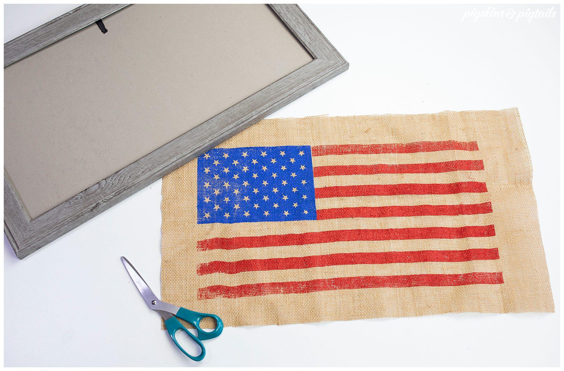 diy flag decor 4th of july craft idea