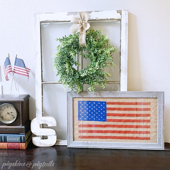 flag patriotic craft usa burlap screen print vinyl