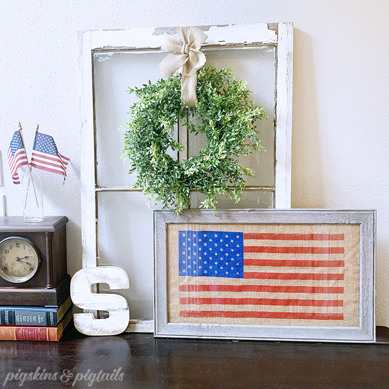 Screen Printing with Vinyl | US Flag on Burlap