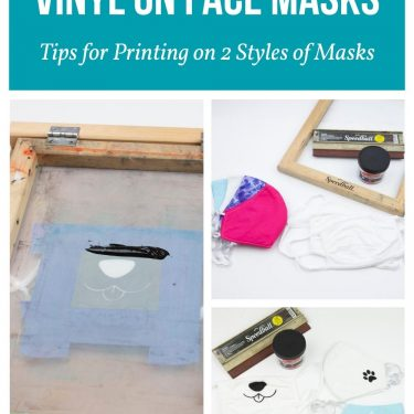 how to screen print personalized face mask speedball