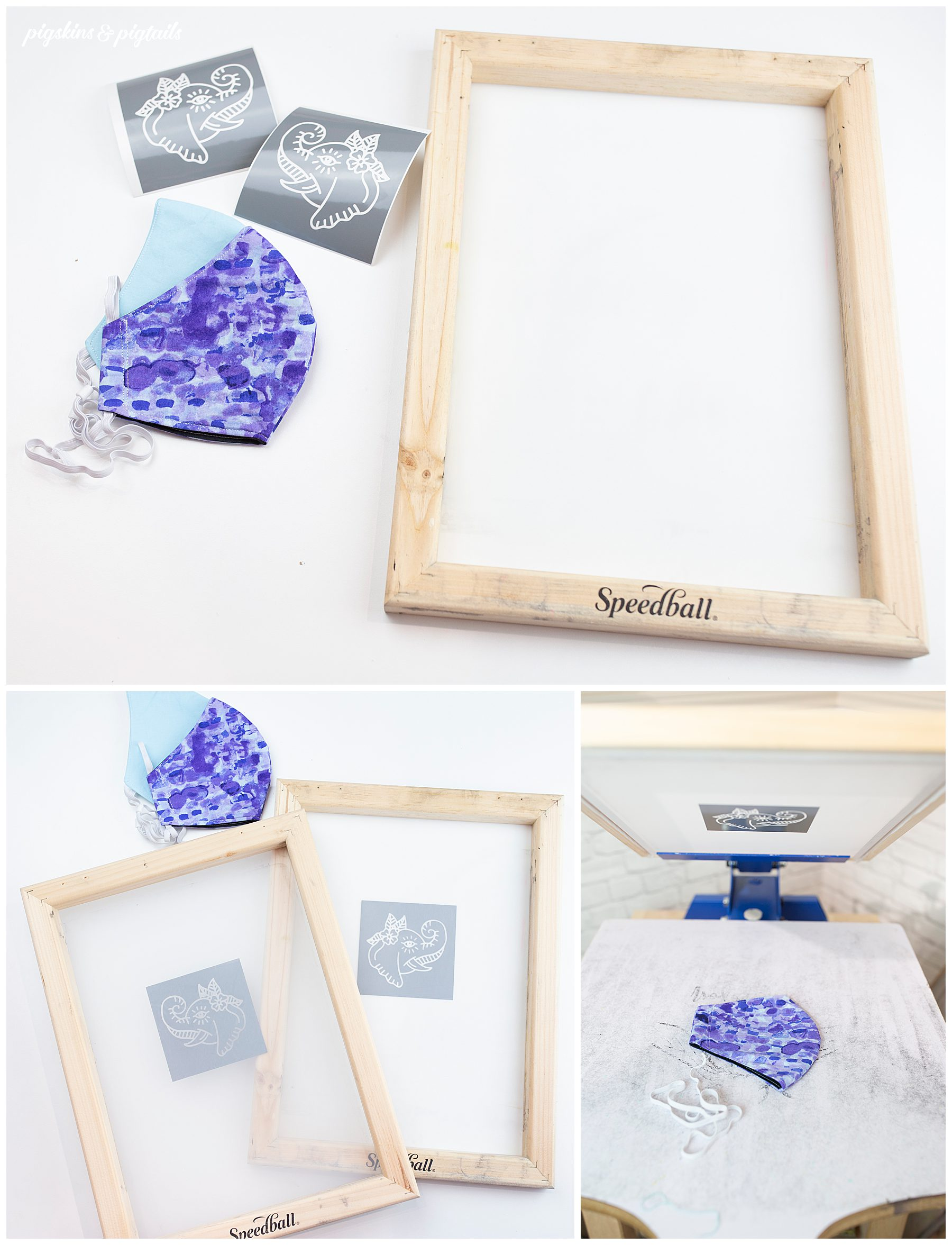 how to screen print white ink face mask