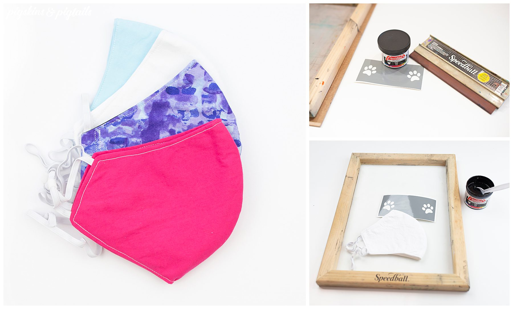 how to screen print personalized face mask seam handmade