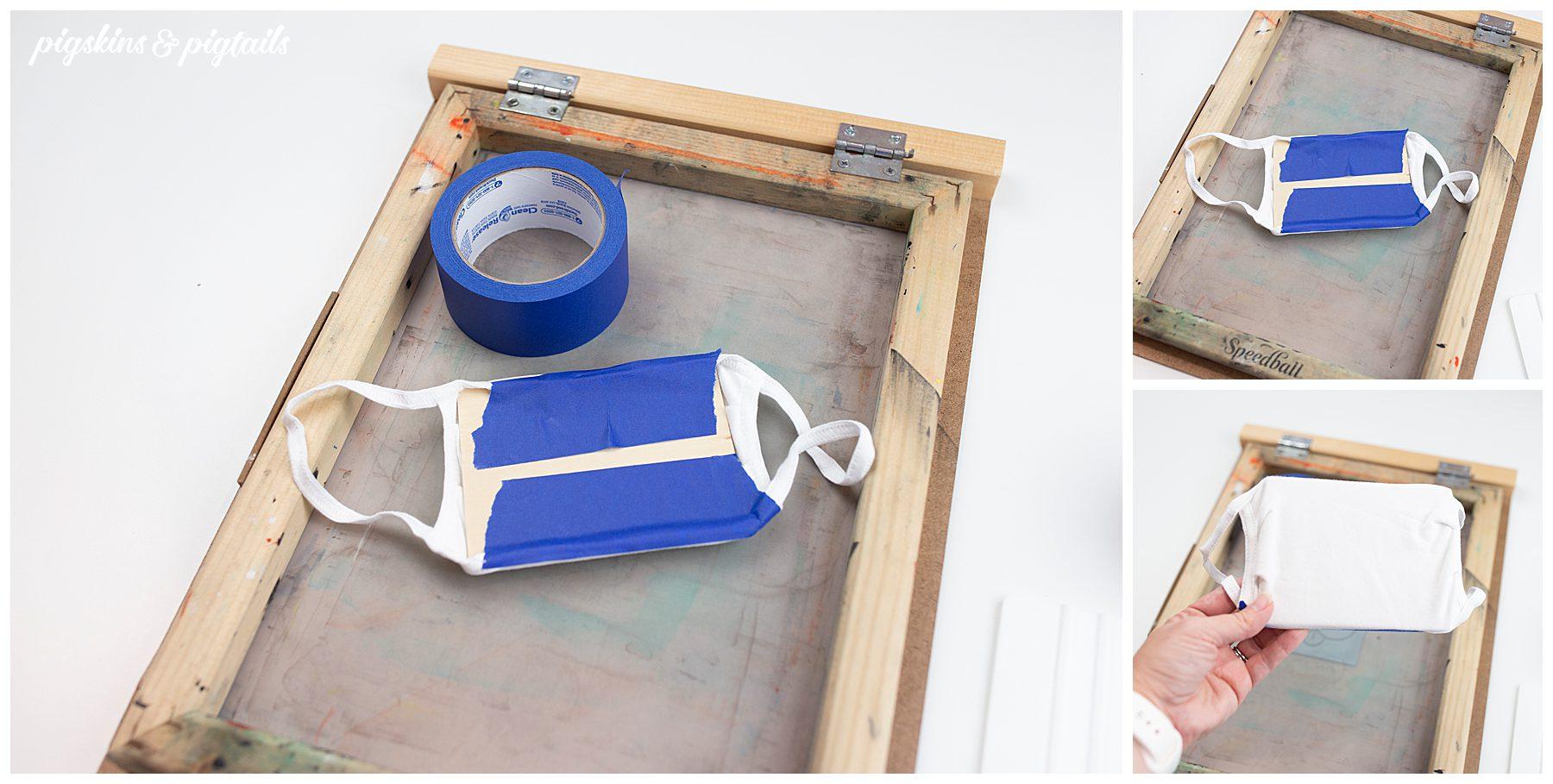screen printing face mask trick flat