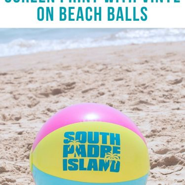 screen printing on beach balls how to vinyl