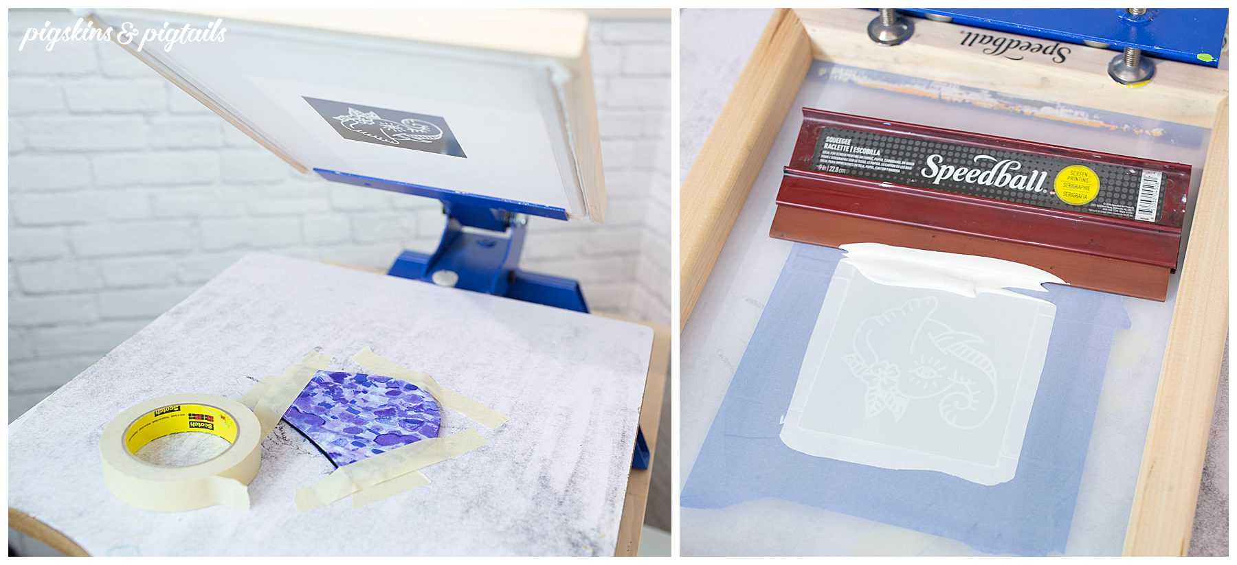 screen printing press tutorial face masks personalized