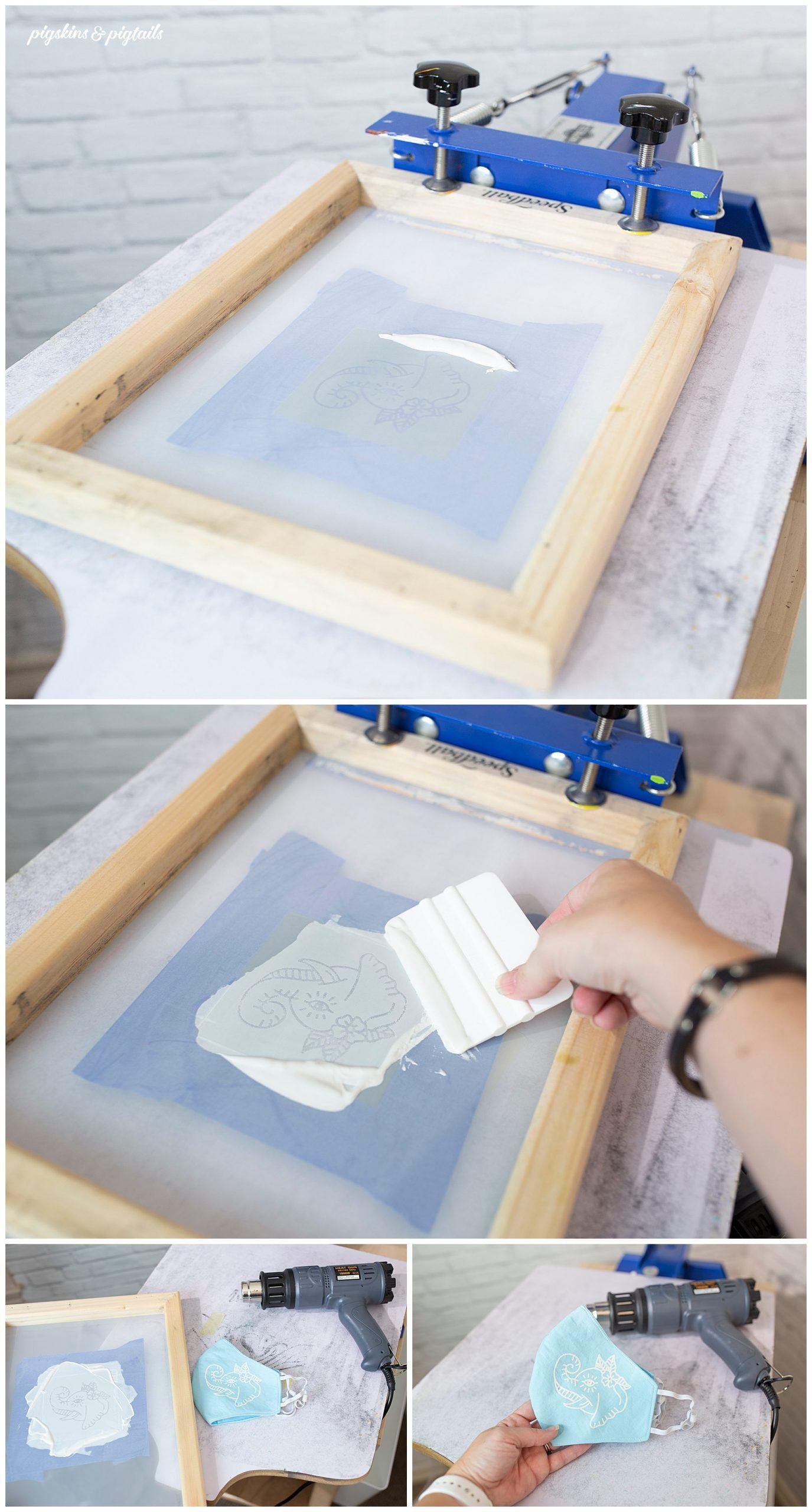 screen printing vinyl cricut silhouette speedball ink