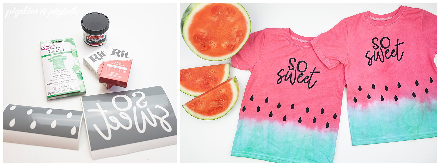 screen printing vinyl tie dye watermelon tutorial