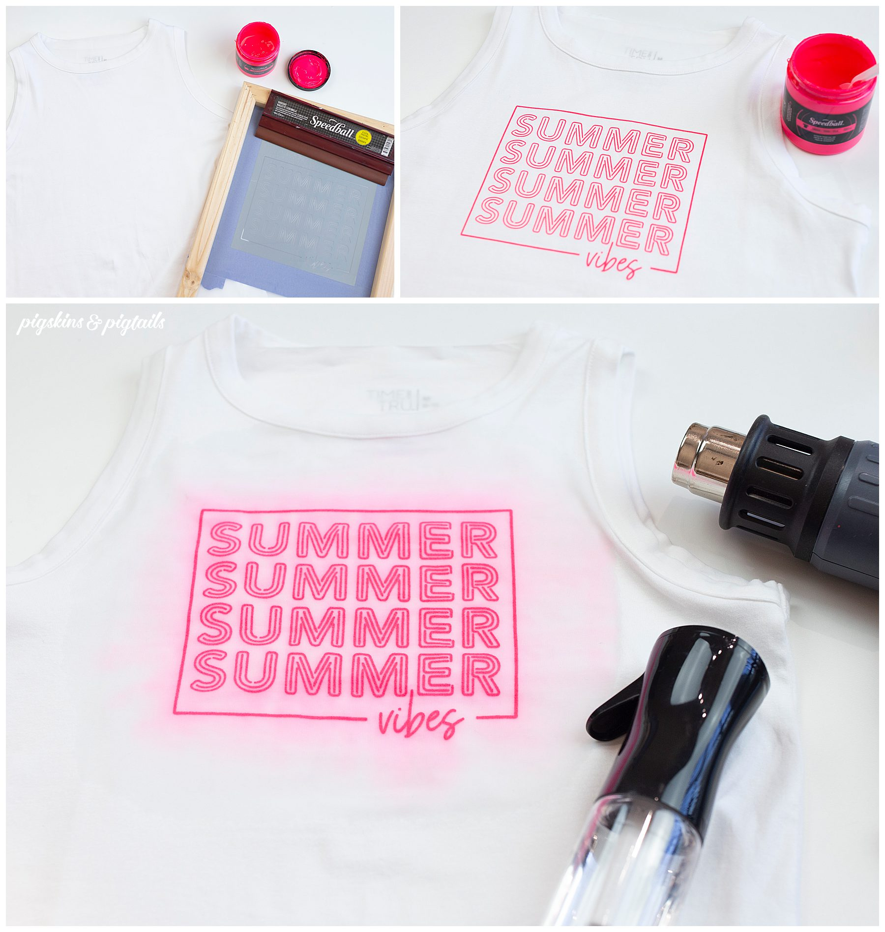 summer vibes project diy screen printing speedball