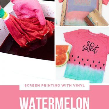 watermelon tie dye idea tutorial design