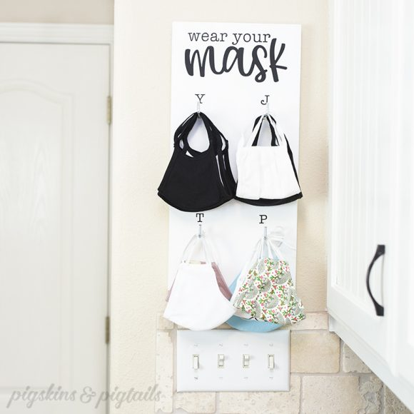 Screen Printing On Wood + Face Mask Hanging Organizer