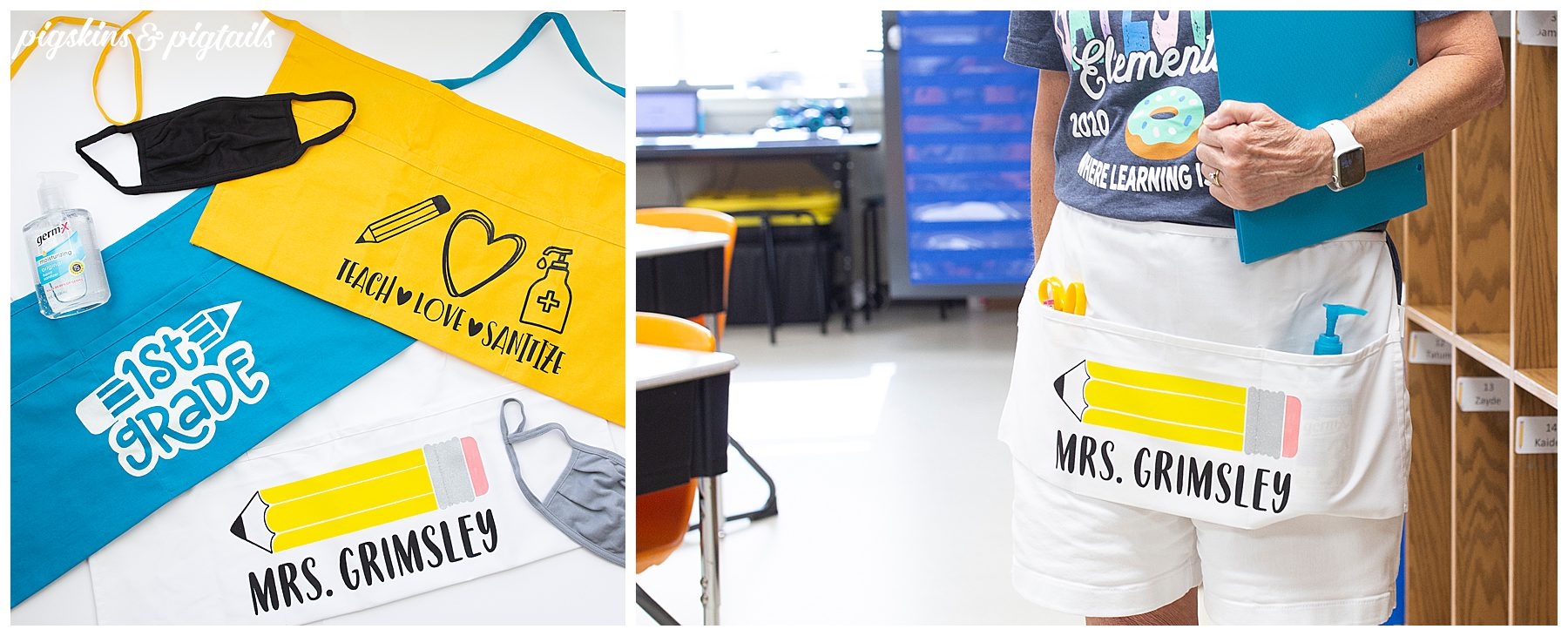 teacher appreciation apron gift idea back to school personalized