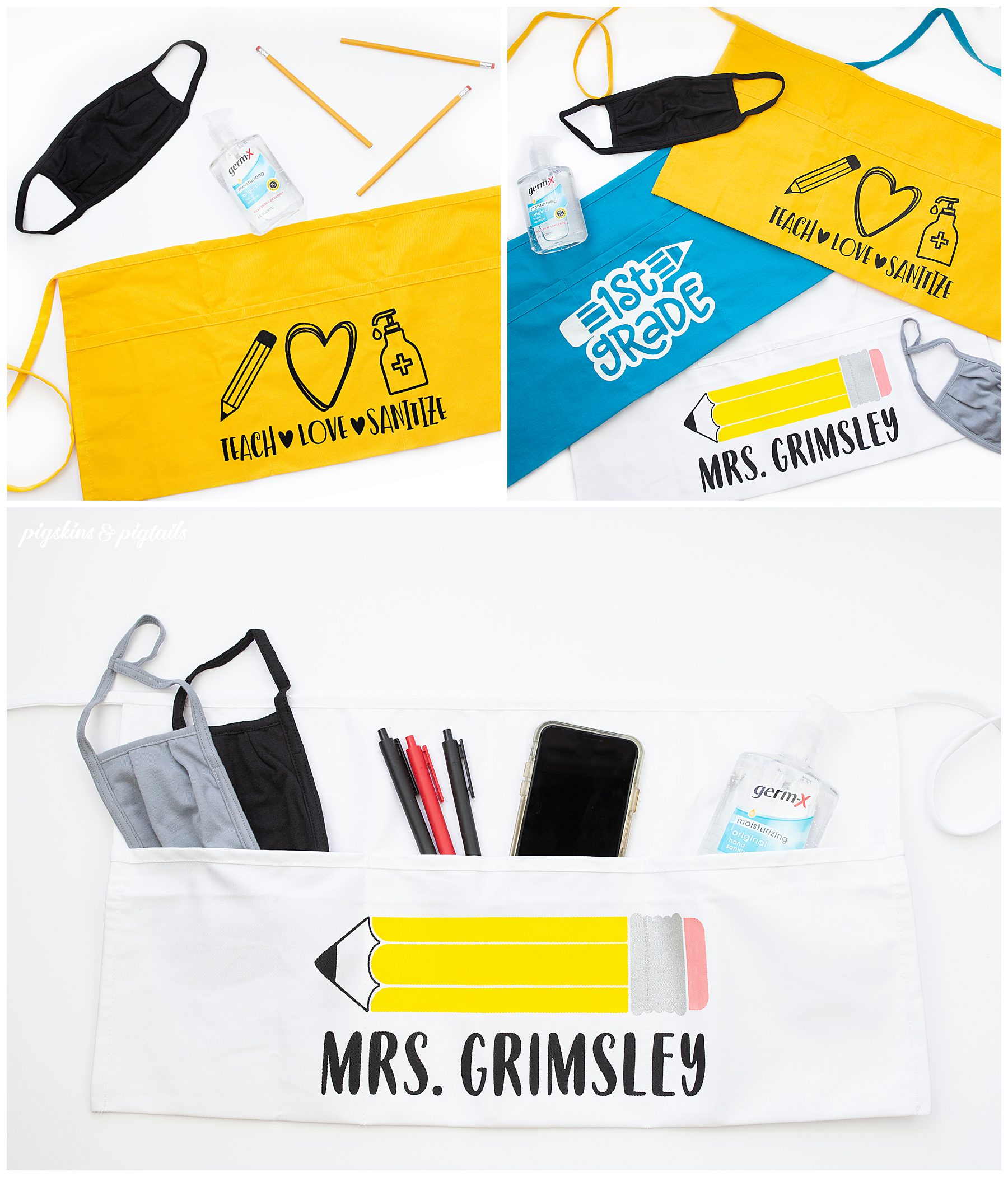 teacher gift back to school personalized apron cricut
