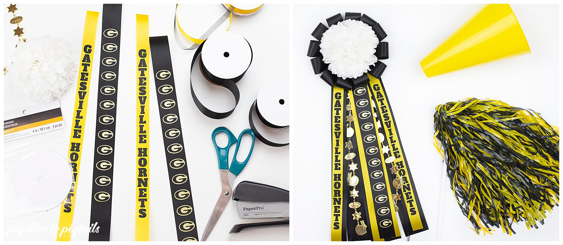 personalized homecoming mum diy tutorial