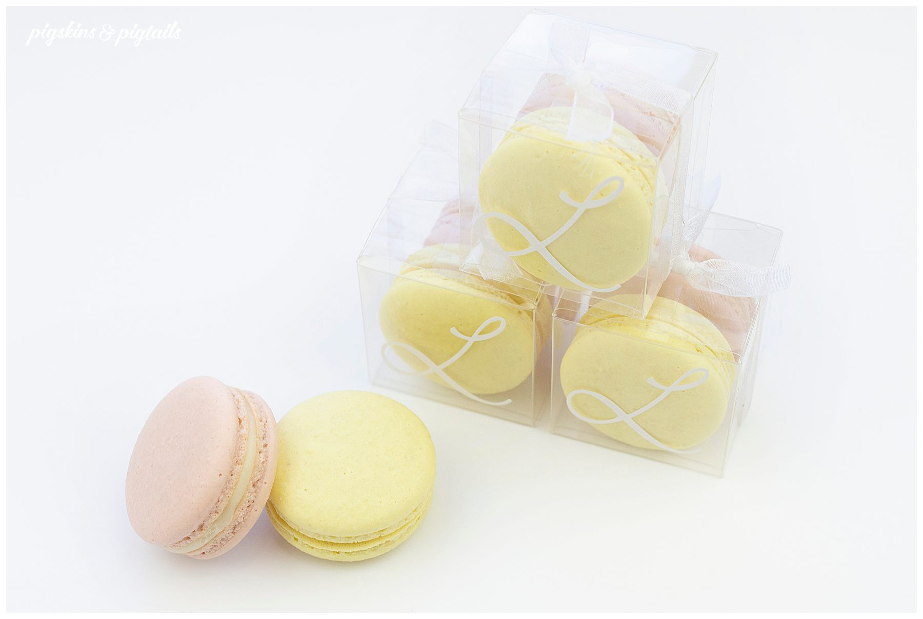 DIY screen printing boxes clear plastic favor macaron packaging cricut