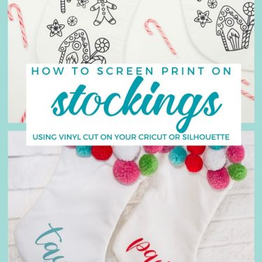 how to screen print on stockings